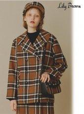 Lily Brown (リリーブラウン)<br>MOON素材Pコート  19秋冬.予約【LWFC195003】ウールコート