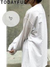 TODAYFUL (トゥデイフル)<br>Heart Long T-Shirts  20春夏予約【12010603】Tシャツ