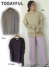 TODAYFUL (トゥデイフル)<br>Layered Sheer Long T-Shirts  20春夏予約【12010615】Tシャツ