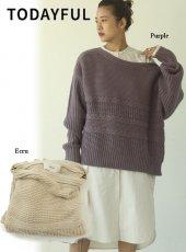 TODAYFUL (トゥデイフル)<br>Boatneck Pattern Knit  20春夏予約【12010504】ニットトップス