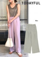 TODAYFUL (トゥデイフル)<br>Georgette Rough Trousers  20春夏予約【12010708】パンツ 受注会