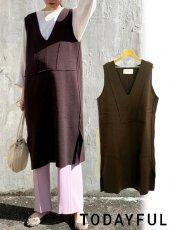 TODAYFUL (トゥデイフル)<br>Knit Saloptte Skirt  20春夏【12010320】オールインワン・コンビネゾン