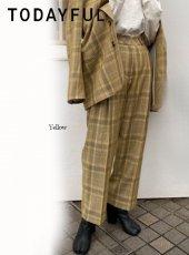 TODAYFUL (トゥデイフル)<br>Check Tuck Pants  20春夏予約【12010714】パンツ