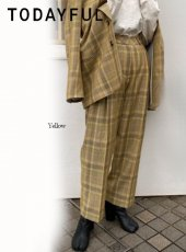 TODAYFUL (トゥデイフル)<br>Check Tuck Pants  20春夏【12010714】パンツ