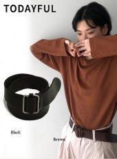 TODAYFUL (トゥデイフル)<br>Square Leather Belt  20春夏予約【12011021】その他 受注会