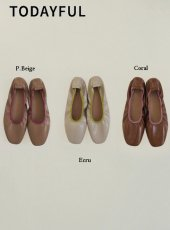 TODAYFUL (トゥデイフル)<br>Enamel Flat Shoes  20春夏予約【12011038】フラットシューズ