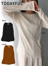 TODAYFUL (トゥデイフル)<br>Randomrib Long T-Shirts  20春夏【12010620】Tシャツ