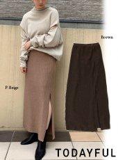 TODAYFUL (トゥデイフル)<br>Glitter Knit Skirt  20春夏【12010803】ロング・マキシスカート