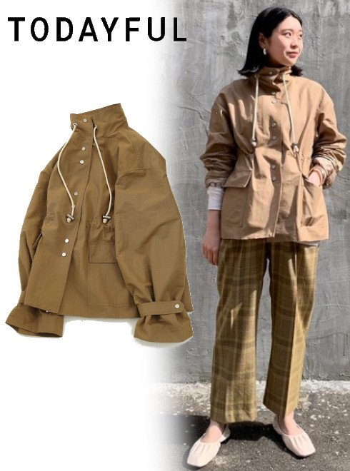 TODAYFUL (トゥデイフル)<br>Mountain Nylon Jacket  21春夏3【12010106】ジャケット