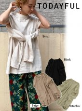 TODAYFUL (トゥデイフル)<br>'Sleeve Slit Long T-Shirts'  20春夏【12010614】Tシャツ