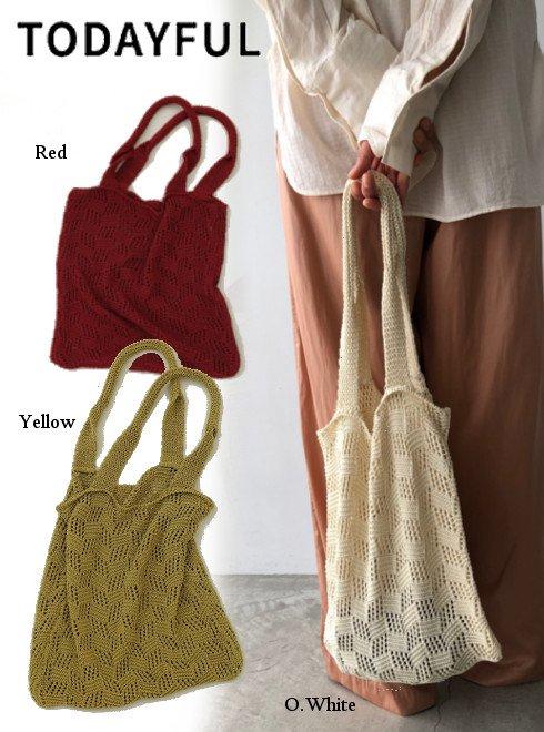 TODAYFUL (トゥデイフル)<br>Sheer Knit Bag 20春夏【12011015】トートバッグ 20es