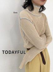 TODAYFUL (トゥデイフル)<br>Mellow Stitch Knit  20春夏予約【12010502】ニットトップス