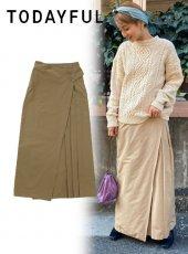 TODAYFUL (トゥデイフル)<br>Wraparound Chino Skirt  20春夏【12010806】タイトスカート