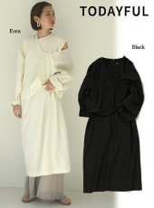 TODAYFUL (トゥデイフル)<br>Cotton Layered Dress  20春夏予約【12010321】マキシワンピース