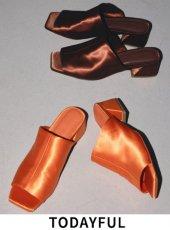 TODAYFUL (トゥデイフル)<br>Square Satin Sandals  20春夏【12011003】サンダル