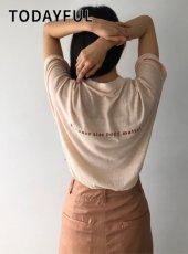 TODAYFUL (トゥデイフル)<br>Back Print T-Shirts  20春夏予約【12010613】Tシャツ