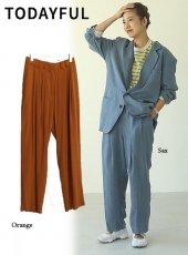 TODAYFUL (トゥデイフル)<br>Vintagesatin Tuck Pants  20春夏予約【12010707】パンツ