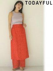 TODAYFUL (トゥデイフル)<br>Layered Jacquard Skirt  20春夏予約【12010804】ロング・マキシスカート 受注会