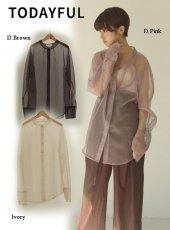 TODAYFUL (トゥデイフル)<br>Organdy Sheer Shirts  20春夏予約【12010414】シャツ・ブラウス