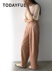 TODAYFUL (トゥデイフル)<br>Silktouch Wide Pants  20春夏【12010712】パンツ 20es