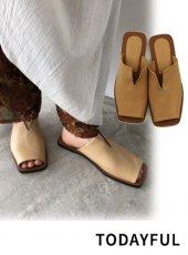 TODAYFUL (トゥデイフル)<br>Leather Slit Sandals  20春夏【12011001】サンダル