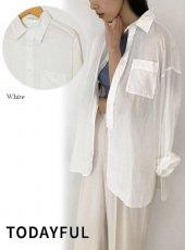 TODAYFUL (トゥデイフル)<br>Jacquard Cotton Shirts  20春夏【12010412】シャツ・ブラウス