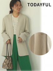 TODAYFUL (トゥデイフル)<br>Linen Over Jacket  20春夏予約【12010102】ジャケット