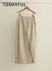 TODAYFUL (トゥデイフル)<br>Linen Pocket Skirt  20春夏予約【12010801】タイトスカート 受注会
