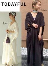 TODAYFUL (トゥデイフル)<br>Pintuck Caftan Dress  20春夏予約【12010312】マキシワンピース