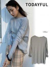 TODAYFUL (トゥデイフル)<br>Randomrib Over Long T-Shirts  20春夏予約【12010621】Tシャツ