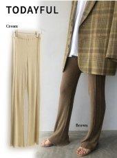 TODAYFUL (トゥデイフル)<br>Sheer Linen Leggings  20春夏予約【12010717】パンツ 受注会