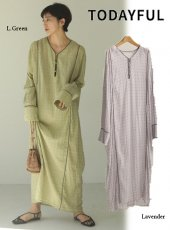 TODAYFUL (トゥデイフル)<br>Embroidery Voile Dress  20春夏【12010302】マキシワンピース
