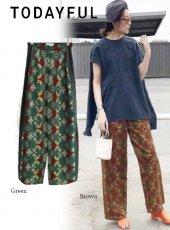 TODAYFUL (トゥデイフル)<br>African Print Pants  20春夏予約【12010710】パンツ