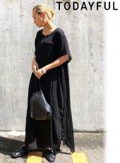 TODAYFUL (トゥデイフル)<br>Georgette Sheer Dress  20春夏予約【12010307】マキシワンピース 受注会
