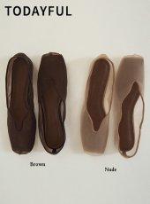 TODAYFUL (トゥデイフル)<br>Sheer Ballet Shoes  20春夏予約【12011012】フラットシューズ