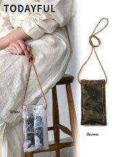 TODAYFUL (トゥデイフル)<br>Marble PVC Pochette  20春夏【12011033】ハンド・ショルダーバッグ