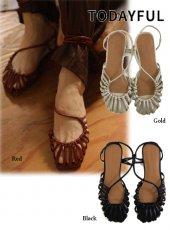 TODAYFUL (トゥデイフル)<br>Asymmetry Rope Sandals  20春夏予約【12011005】サンダル