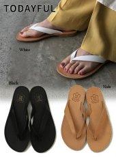 TODAYFUL (トゥデイフル)<br>Leather Beach Sandals  20春夏【12011027】サンダル