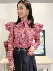 sister jane (シスタージェーン)<br>Missy Floral Bow Shirt  20春夏予約【21SJ00TO417PNK】シャツ・ブラウス