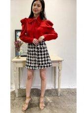 sister jane (シスタージェーン)<br>Crimson Bow Shirt  20春夏予約【21SJ00TO418RED】シャツ・ブラウス