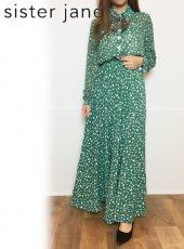 sister jane (シスタージェーン)<br>Star Charm Midi Dress  20春夏予約【21SJ00DR1168GRN】マキシワンピース
