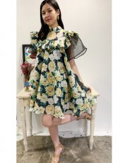 sister jane (シスタージェーン)<br>Winter Garden Mini Dress  20春夏予約【21SJ00DR1169MUL】フレアワンピース