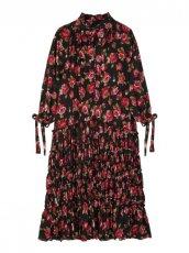 sister jane (シスタージェーン)<br>Regal Rose Midi Dress  20春夏予約【21SJ00DR1175BLK】フレアワンピース