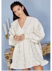 sister jane (シスタージェーン)<br>Own the Throne Jacquard Mini Dress  20春夏予約【21SJ00DR1179CRM】フレアワンピース
