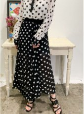 sister jane (シスタージェーン)<br>Duchess Pleated Midi Skirt  20春夏予約【21SJ00SK343BLK】フレアスカート