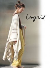 Ungrid (アングリッド)<br>ベルトコンビニットポンチョ  20春夏【112012809701】ポンチョ