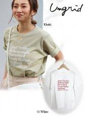 Ungrid (アングリッド)<br>CityロゴTee  20春夏2【112022731901】Tシャツ