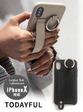 TODAYFUL (トゥデイフル)<br>Leather Belt i-phonecase  iPhoneX対応 19秋冬.予約【12011025】iPhone・iPadケース