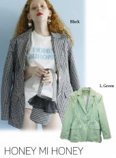 Honey mi Honey (ハニーミーハニー)<br>ginghamcheck jacket  20春夏予約【20S-TA-10】ジャケット