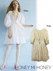 Honey mi Honey (ハニーミーハニー)<br>tulle layered blouse  20春夏予約【20S-TA-15】チュニック
